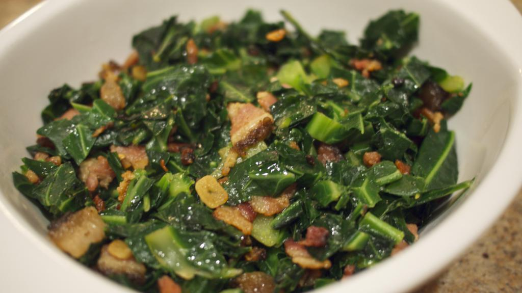 Brazilian style Collard Greens