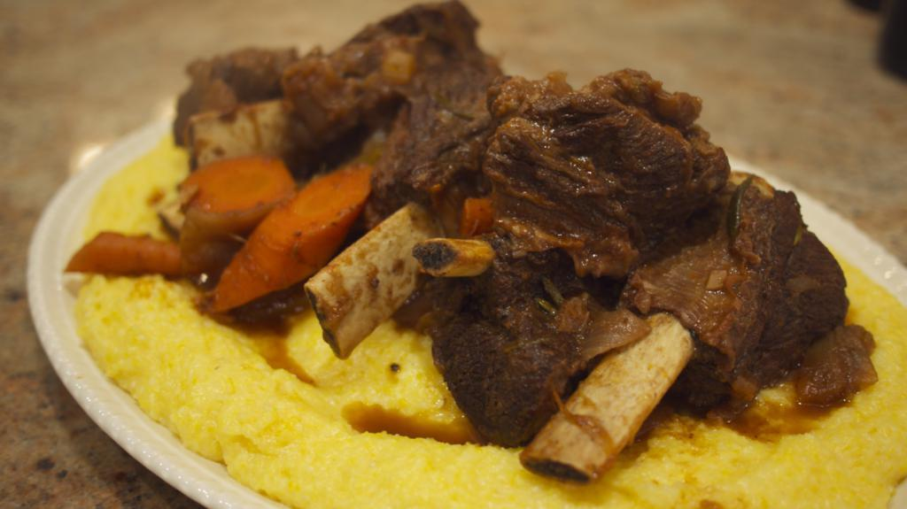 Braised Beef Short Ribs with Polenta