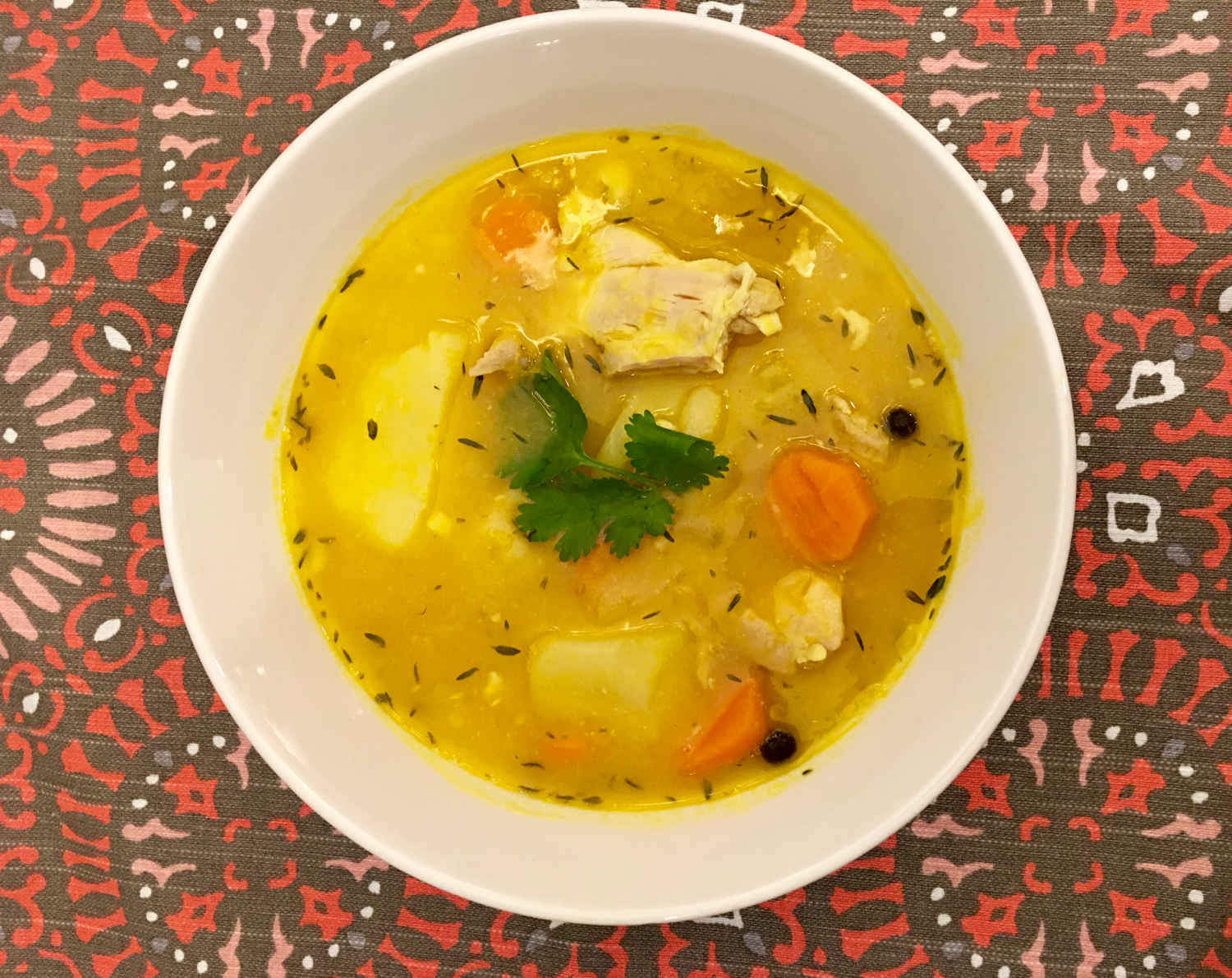 Jamaican Chicken Soup With Dumplings Gourmetcentric